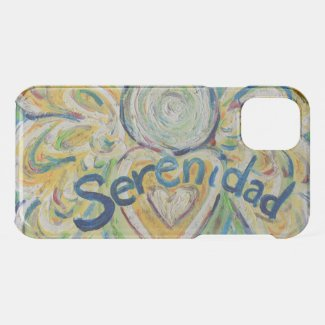 Inspirational Word Serenidad Angel iPhone Case