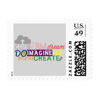 inspirational Word Thought. Postage