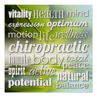 Inspirational Words - Chiropractic Poster