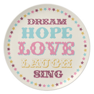 Inspirational Words/ Dream/ Love/ Hope Plate