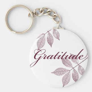 Inspirational Words Gratitude Basic Round Button Keychain