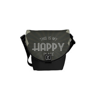 Inspirational Words Happy Place Messenger Bag