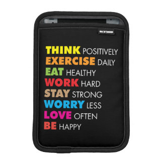 Inspirational Words - Motivational iPad Mini Sleeve