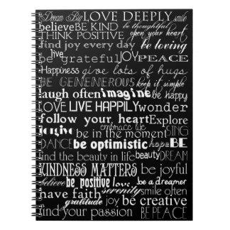 Inspirational Words Notebook