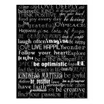 Inspirational Words Postcard
