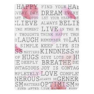 Inspirational words rose petals extra large moleskine notebook