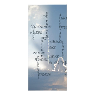 Inspirational Words to Live  Bookmarks Rack Card