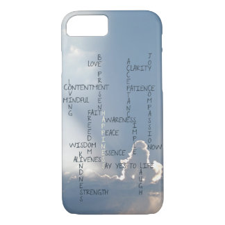 Inspirational Words to Live by for Happiness iPhone 7 Case