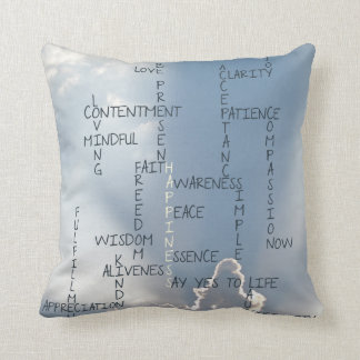 Inspirational Words to Live by for Happiness Pillows