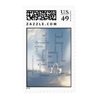 Inspirational Words to Live by for Happiness Stamps