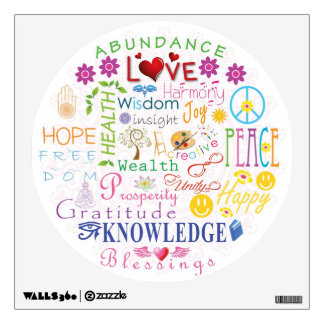 Inspirational Words to Live By Wall Sticker
