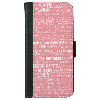Inspirational Words Wallet Phone Case For iPhone 6/6s