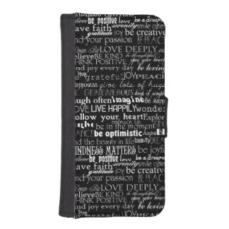 Inspirational Words Wallet Phone Case For iPhone SE/5/5s