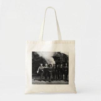 Inspirational World War I Women Railroad Workers Canvas Bags