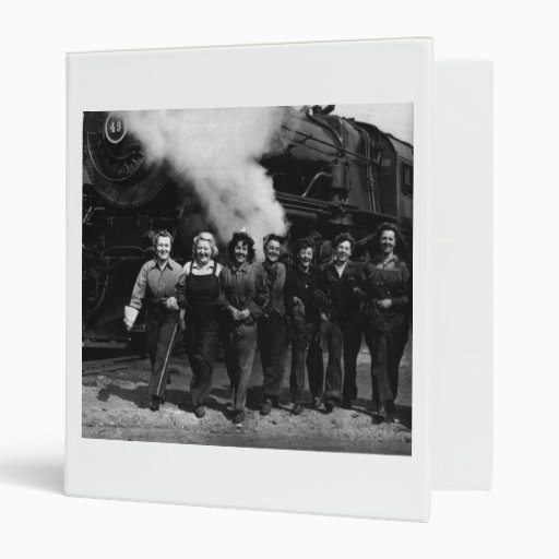 Inspirational World War I Women Railroad Workers Binder