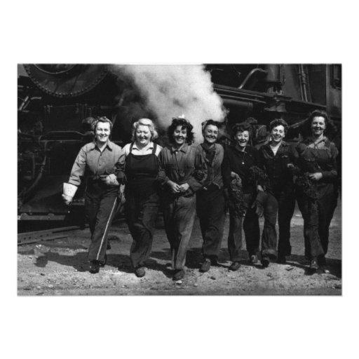 Inspirational World War I Women Railroad Workers Invite