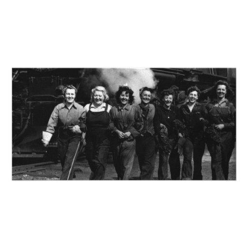 Inspirational World War I Women Railroad Workers Photo Greeting Card