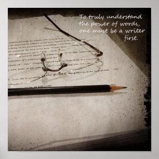 Inspirational Writer Poster