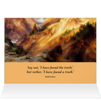 inspirational yellowstone landscape card