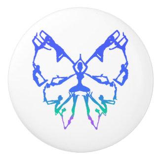 Inspirational Yoga Poses Butterfly New Beginnings Ceramic Knob
