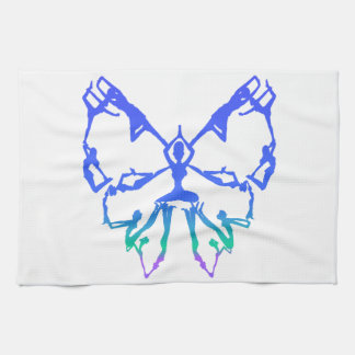 Inspirational Yoga Poses Butterfly New Beginnings Kitchen Towels