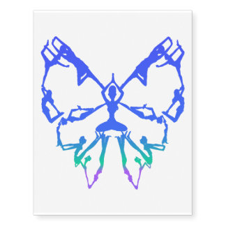 Inspirational Yoga Poses Butterfly New Beginnings Temporary Tattoos