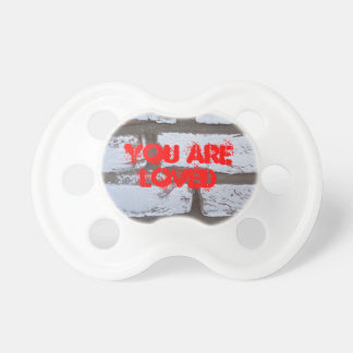 Inspirational You Are Loved Graffiti Pacifier