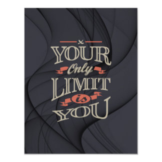 Inspirational - You only limit is you Card