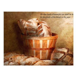 """Inspirational - Your daily bread - Proverbs 22-9 8.5"""" X 11"""" Flyer"""