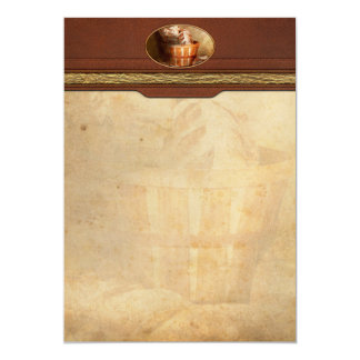 """Inspirational - Your daily bread - Proverbs 22-9 5"""" X 7"""" Invitation Card"""