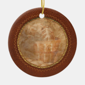 Inspirational - Your daily bread - Proverbs 22-9 Double-Sided Ceramic Round Christmas Ornament