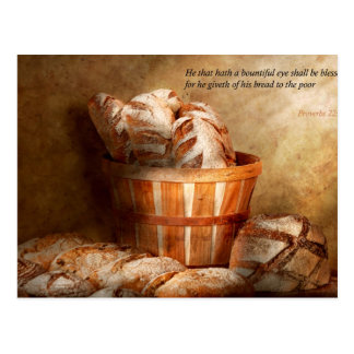 Inspirational - Your daily bread - Proverbs 22-9 Postcard