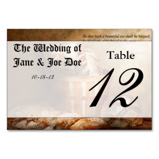 Inspirational - Your daily bread - Proverbs 22-9 Table Card
