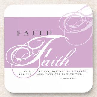 Inspire al práctico de costa de la bebida de la fe posavasos