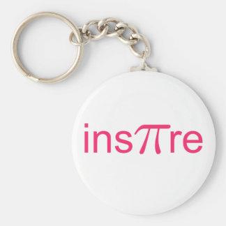 ins'Pi're Basic Round Button Keychain