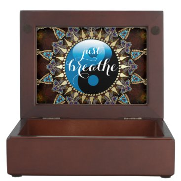 Inspire Bohemian Blue Black YinYang Keepsake Box