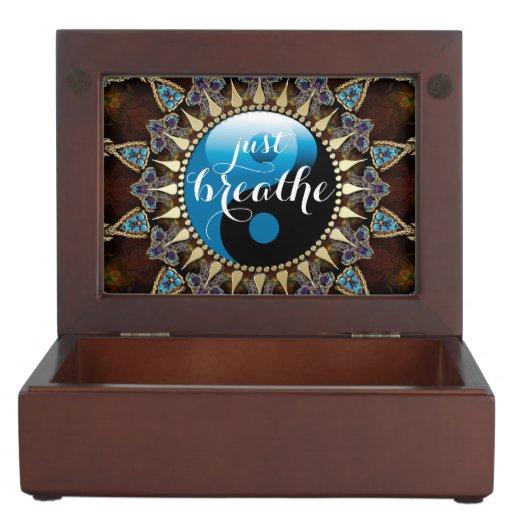 Inspire Bohemian Blue Black YinYang Keepsake Box