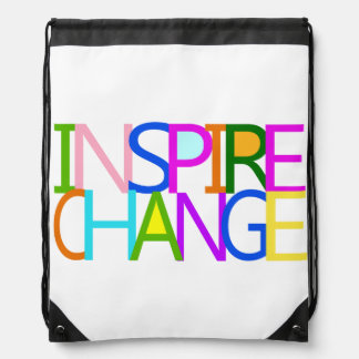 INSPIRE CHANGE DRAWSTRING BACKPACK