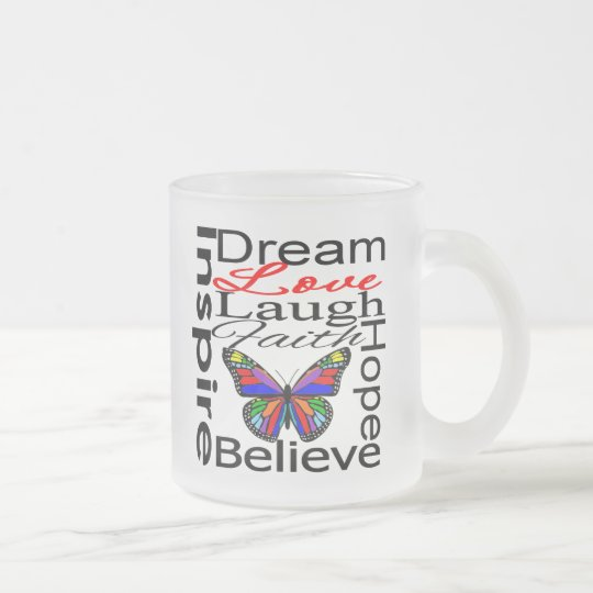 Inspire Collage Frosted Glass Coffee Mug