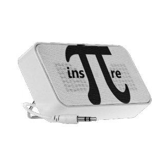 Inspire el símbolo inspirado del pi iPhone altavoces