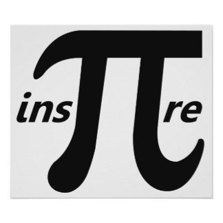 Inspire el símbolo inspirado del pi posters