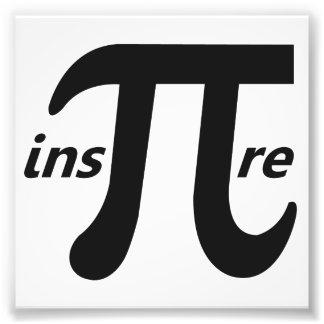 Inspire el símbolo inspirado del pi fotografias