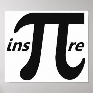 Inspire el símbolo inspirado del pi póster