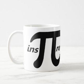 Inspire el símbolo inspirado del pi taza de café
