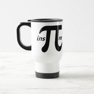 Inspire el símbolo inspirado del pi taza de viaje