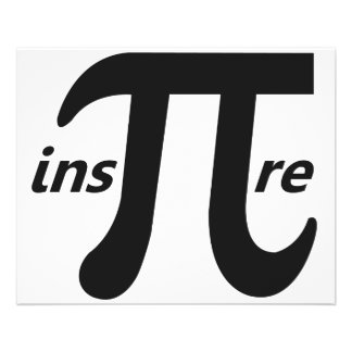Inspire Inspirational Pi Symbol Flyer
