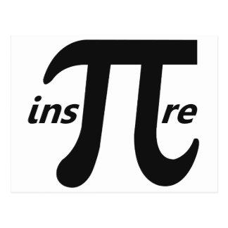 Inspire Inspirational Pi Symbol Postcard