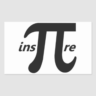 Inspire Inspirational Pi Symbol Rectangular Sticker