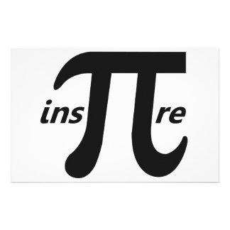Inspire Inspirational Pi Symbol Stationery
