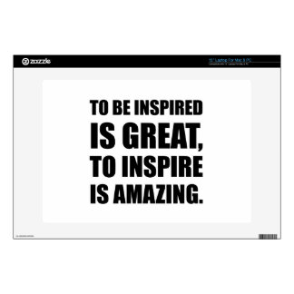 "Inspire Is Amazing Decals For 13"" Laptops"